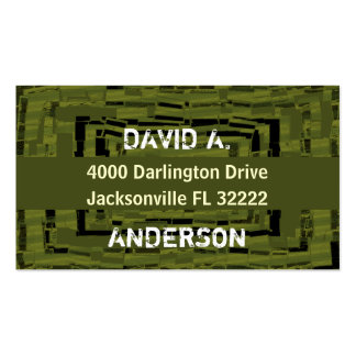Cool abstract masculin army green pack of standard business cards