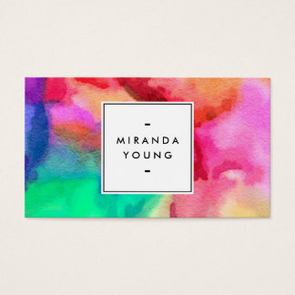 Cool Abstract Multi-color Watercolors II
