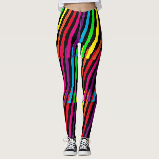Cool Abstract Neon Colors Leggings