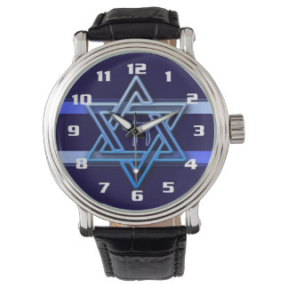 Cool and Elegant Hebrew Chai and Star of David Watch