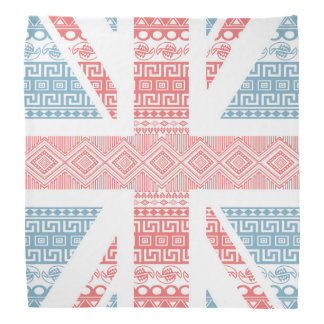 Cool awesome trendy Aztec U.K.Union Jack Flag Bandana