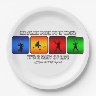 Cool Badminton It Is A Way Of Life Paper Plate