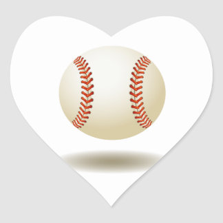Cool Baseball Emblem Heart Sticker