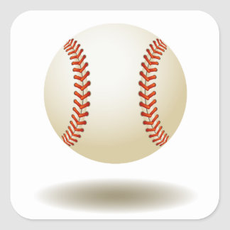 Cool Baseball Emblem Square Stickers
