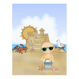 Cool Beach Baby ~ Neutral Postcard