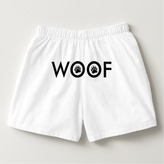 Cool Bears Pride Bear Paw Woof of the back Boxers