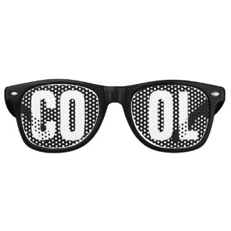 'COOL' Black and White Party Retro Sunglasses
