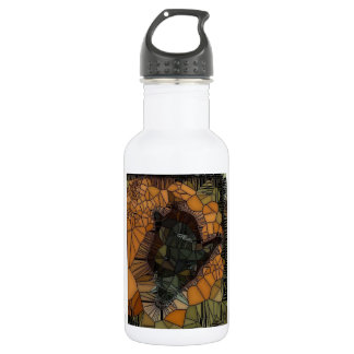 Cool black/orange Dog Design 532 Ml Water Bottle