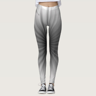 Cool Black White Grey Fashion Abstract Leggings