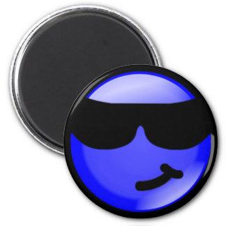 Cool-Blue 6 Cm Round Magnet