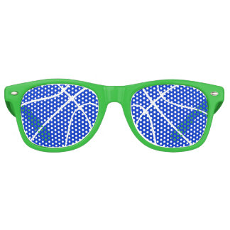 Cool Blue Basketball Party Shades