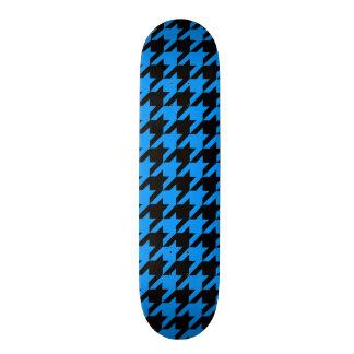 Cool Blue Black Design Awesome Funky Houndstooth Custom Skateboard