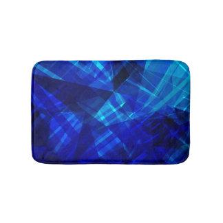 Cool Blue Ice Geometric Pattern Bath Mats