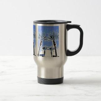 Cool Blue Palm Trees Paradise Beach Theme Decor Mugs