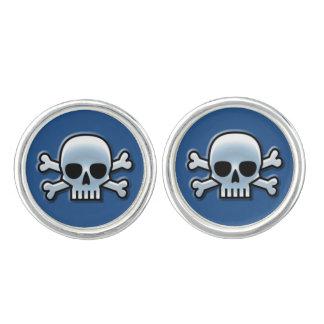 Cool Blue Skull Cufflinks