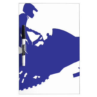 Cool Blue Snowmobiler Dry Erase Boards