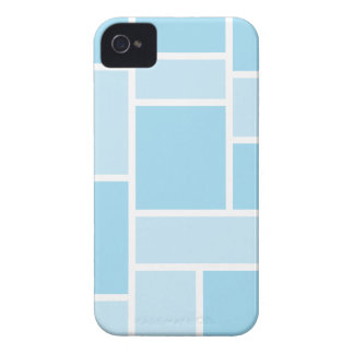 Cool Blue Stained Glass iPhone 4/4S Case