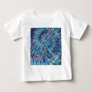 Cool Blue Swirl Spiral Tie Dye Shirt