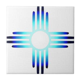 Cool Blue Zia Tile