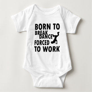 Cool Breakdance Designs Baby Bodysuit