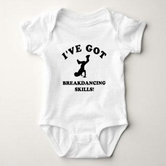 cool breakdance skills baby bodysuit