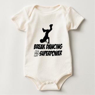 Cool breakdancing designs baby bodysuit