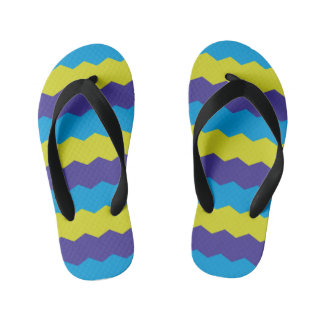 Cool Bright Abstract Waves Kid's Jandals