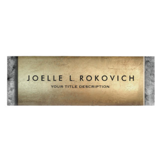 Cool Bronze Plaque Grey Concrete Generic Business Name Tag