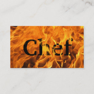 Executive chef business cards zazzle nz cool burning fire chef business card reheart Image collections