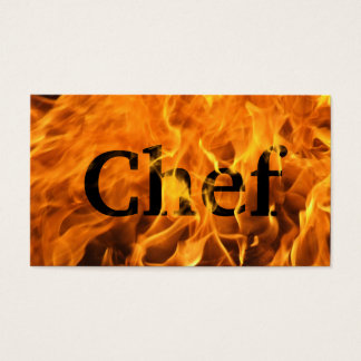 Cool Burning Fire Chef Business Card
