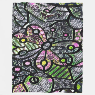 Cool Butterfly Chalk Art Fleece Blanket