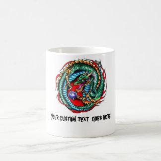 Cool cartoon tattoo symbol Dragon and Orb Mugs