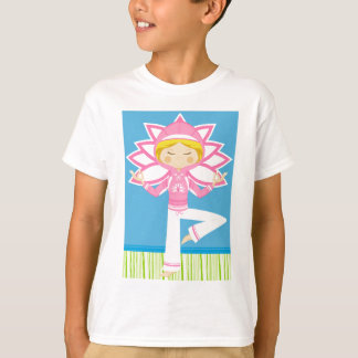 Cool Cartoon Yoga Girl T-Shirt