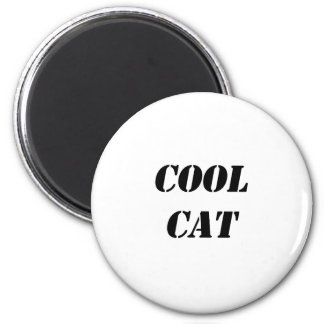 Cool Cat 6 Cm Round Magnet