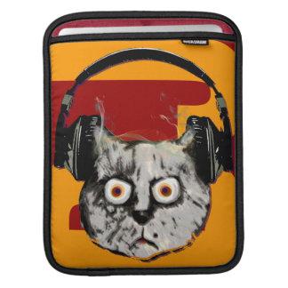 cool cat/headphone dj music-themed sleeve for iPads