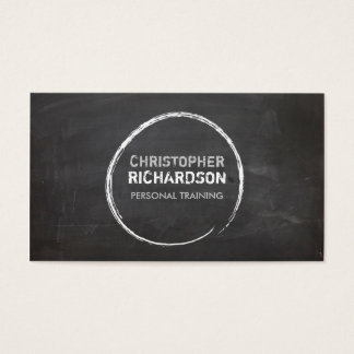 COOL CHALKBOARD CIRCLE with YOUR NAME Business Card