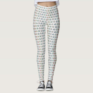 cool classic bus pattern vintage inspired leggings