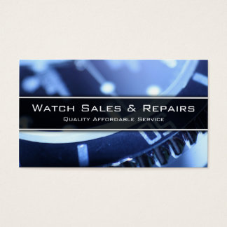 Cool Close up Photo of a Watch - Business Card