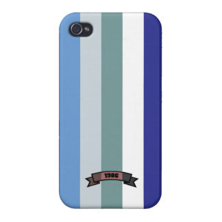 Cool Color Stripe Pattern iPhone 4 Case