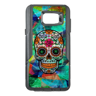 Cool Colorful Background With Floral Sugar Skull OtterBox Samsung Note 5 Case
