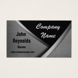 Cool Curves Gold Metal Look  Business Cards