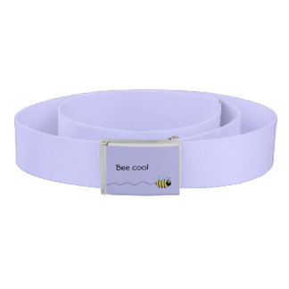 Cool cute bee cartoon pun purple belt