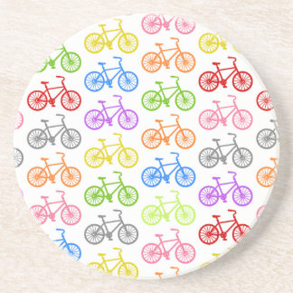 Cool cute bicycle pattern colourful seamless coaster