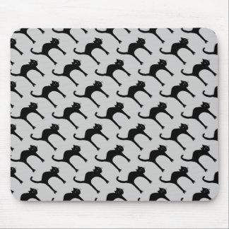 cool cute black cat pattern mousepads