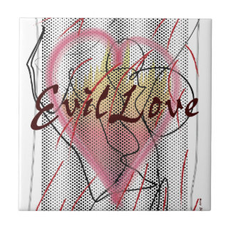 Cool Designs for Clothing etc. Evil Love Theme Tile