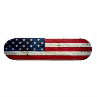 Cool Distressed American Flag Wood Skate Decks