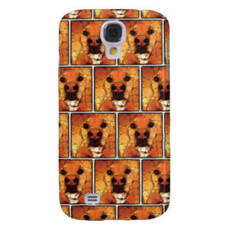 Cool Dog Art Doggie Noses Abstract Mosaic Galaxy S4 Case
