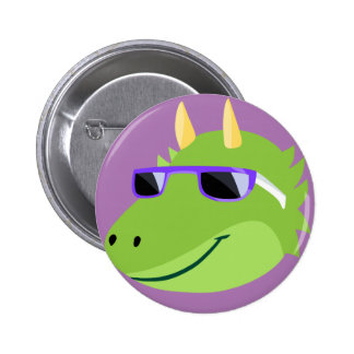 Cool Draco the Fluffy Monster 6 Cm Round Badge
