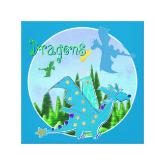 Cool Dragon Artwork for Kids Canvas Print
