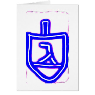 Cool dreidel Hanukkah card